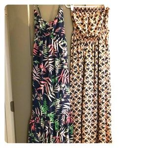 Pair of the Webster Miami maxi dresses tropical